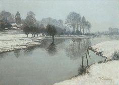 Max Clarenbach, WINTER AM NIEDERRHEIN., Auktion 874 Alte Kunst, Lot 1048