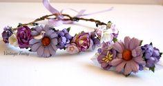 Flower crown and clip set www.vintagefairy.com.au