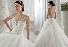 Grace, elegance, illusion | Fresh take on a classic wedding gown. Style 594