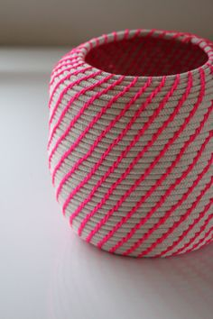 Upcycled Natural & Neon Baskets