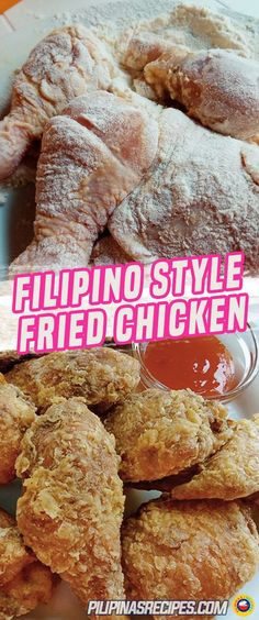 Filipino Fried Chicken For Filipinos, the usual is to use salt, pepper, onion and garlic powder. It's also common to shallow fry it. The Filipino Fried Chicken Recipe is the country's take on this Crispy, Fried and Salty goodness dish. Filipino Fried Chicken Recipe, Fried Chicken Recipes, Filipino Recipes, Filipino Food, Chinese Fried Chicken, Country Fried Chicken, Pinoy Recipe, Recipe Chicken, Comida Filipina