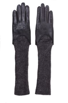 CHARLOTTE ESKILDSEN, LONG LEATHER GLOVES: these seem perfect since i always have a problem of leather gloves not fitting well around my wrists.