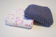 Knitted cotton dish/washcloths by BeadsNyarn on Etsy, $7.95