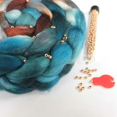 How to spin beads into handspun yarn