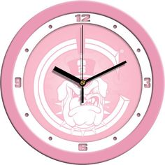 Ladies Citadel Bulldogs - Pink Wall Clock