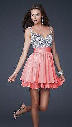 Fashion Organza Spaghetti Strap Natural A-Line Prom Dress top20704