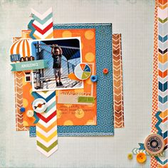 """Jenny Evans: You Are Amazing - Boys Rule layout Great page using Echo Park's """"All About A Boy"""" paper The buttons are a great touch!"""
