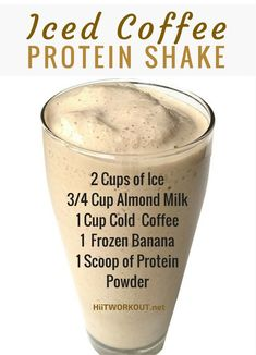 One basic way to build lean muscle and lose w… Iced Coffee Protein Shake Recipe. One basic way to build lean muscle and lose weight is to drink Coffee Protein Shake. They are a fast and easy meal replacement… Smoothies Vegan, Juice Smoothie, Smoothie Drinks, Fruit Smoothies, Diet Drinks, Smoothie Bowl, Fitness Smoothies, Organic Smoothies, Iced Coffee Protein Shake Recipe