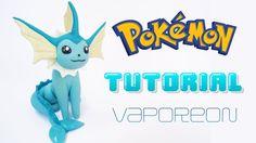 VAPOREON Pokemon Polymer Clay Tutorial / Porcelana Fría / Plastilina