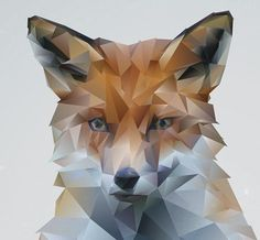 Shop for fox on Etsy, the place to express your creativity through the buying and selling of handmade and vintage goods. Geometric Fox, Low Poly, Modern Art, Digital Art, Drawings, Unique Jewelry, Winter, Handmade Gifts, Animals