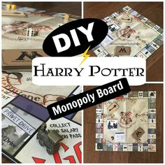 A Disney Princess in the real world : DIY Harry Potter Monopoly board!