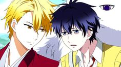 Characters: Abeno Haruitsuki, Ashiya Hanae, and Fuffy or Moja from Manga, Anime (ONGOING): Fukigen No Mononokean OR The Morose Mononokean