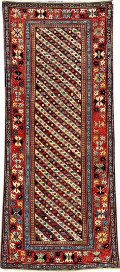 'Striped' Gendje Kazak, Central Caucasus, 19th century, wool/wool, approx. 262 x 114 cm