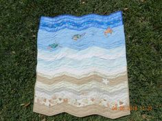 Granddaughter's Ocean quilt shared on MyQuiltPlace.com by Riana Noyes