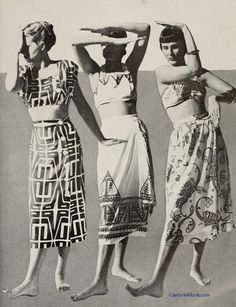 Couture Allure Vintage Fashion: Bare Midriff Three Ways, 1948