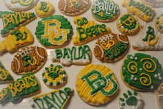 Candace's Cookie Creations: #Baylor Bears!