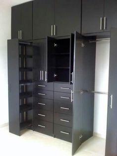 New closet de madera colores Ideas Bedroom Cupboard Designs, Wardrobe Design Bedroom, Bedroom Cupboards, Bedroom Furniture Design, Wardrobe Closet, Closet Bedroom, Kitchen Furniture, Wooden Furniture, Dressing Design