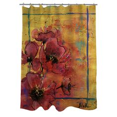 Thumbprintz Artistic Poppy I Shower Curtain - Overstock Shopping - Great Deals on Shower Curtains