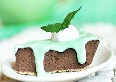 Mint chocolate pie.
