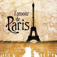 size: Art Print: L'amour de Paris Gold by Dan Meneely : Find Art, Framed Artwork, Pattern Design, Dan, France, Art Prints, Gold, Catalog, Posters