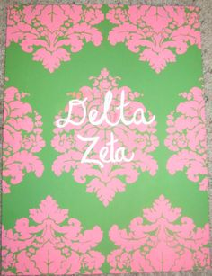 Delta Zeta. Might have to craft this for my future little..  But DG for ME