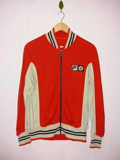 e3bc5066 Vintage 70s Extremely Rare color Fila BJ Bjorn Borg MK1 zip up tennis track  jacket / Fila Borg / sweatshirt / sweater on Etsy