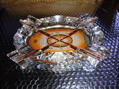 Rare Beautiful Fuente Opus X Cigar Crystal  ashtray