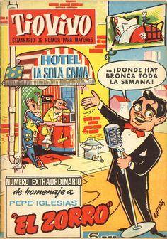 """Un extra de Tiovivo del año 1957 dedicado a Pepe Iglesias """"El Zorro"""", un humorista entonces muy famoso por sus programas radiofónicos."""