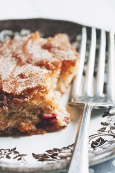 apple cranberry snacking cake
