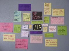 My motivational wall