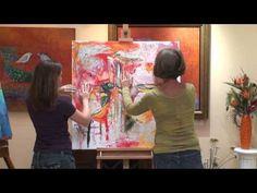 Intuitive Painting Demo Kym Finkle and Elisabeth Vismans