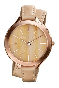 MICHAEL Michael Kors | Women's Runway Genuine Leather Double Strap Watch | Nordstrom Rack