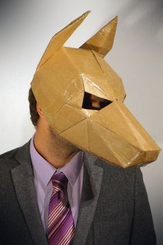 Aminal mask make your own dog mask from recycled by Wintercroft