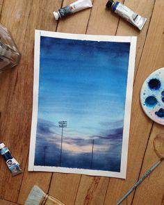 """Anastasia Sologub on Instagram: """"Буду ныть! 😜В последнее время хочется рисовать что-то более значимое, а хватает время на такие пейзажи... я обожаю процесс, но теперь…"""" Watercolor Painting, Artsy, Colour, Drawings, Color, Watercolor Paintings, Sketches, Drawing, Portrait"""