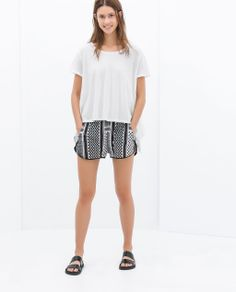 Image 1 of PRINTED SHORTS from Zara