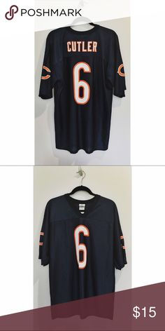 Chicago Bears Football Jersey oversized jersey fit | great for tailgating or watching sunday/monday football with friends | lightweight athletic material that's not too hot or heavy NFL Team Apparel Tops