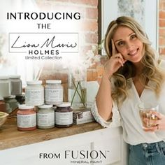 Introducing five new gorgeous paint colors, inspired by herbs and nature, in our Lisa Marie Holmes color collection. We welcome Lisa to our Fusion family! Painted Furniture For Sale, Paint Furniture, Furniture Ideas, Dramatic Lighting, Paint Brands, Whitewash Wood, Mineral Paint, Lisa Marie, Milk Paint