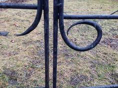 Hand-forged trellis gate detail