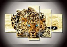 Mcanvas Fractal Leopard Canvas Print Wall Art Painting Home Modern Decoration Poster Pictures, Canvas Pictures, Print Pictures, Leopard Pictures, Tiger Pictures, Wall Pictures, Animal Pictures, Canvas Art Prints, Canvas Wall Art