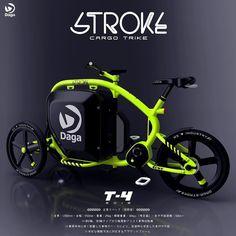 さらなる進化を想定した試作4号機イメージカーゴバイクの新スタイル載せる吊り下げるの機能を持つ独自フレーム構成はDagaのみ日本独自の環境から生まれた自転車界の軽自動車を目指します #dagastroke #cargobike #カーゴバイク #japan