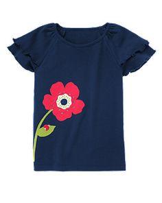 Gem Poppy Flutter Sleeve Tee