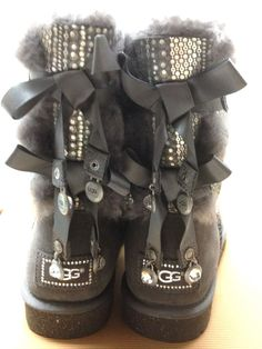ugg boots mini bailey bow crystal