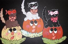Pam's Paper Piecings: Cat with Jack-o-Lantern