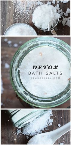 Make your own bath salts at home! This fantastic detox bath salts recipe is comprised of a combination of simple ingredients that will help sooth achy muscles, wash away pain, relieve tension. It also pulls toxins to detox both your muscles, skin and even help you sleep!