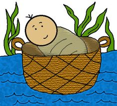 Church House Collection Blog: Free Baby Moses In The Basket Clip Art