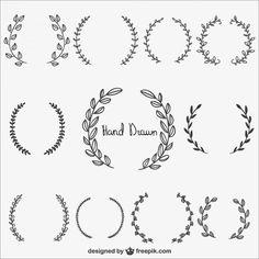 Vector laurels | #hand #drawn #freebie