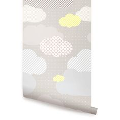 Clouds Grey Peel & Stick Fabric Wallpaper by AccentuWall on Etsy, $40.00