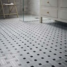 Lattice Mosaic, Honed - Bridgehampton Marble - Wall & Floor Tiles | Fired Earth
