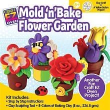 Craft EZ Oven Mold n Bake Flower Garden Craft Kit