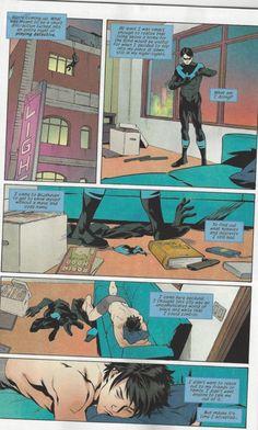 Nightwing has had a day. Image via DC Comics